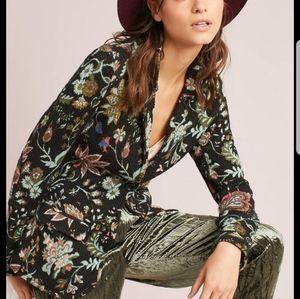 Aldomartins Sweater Blazer Floral Button Front
